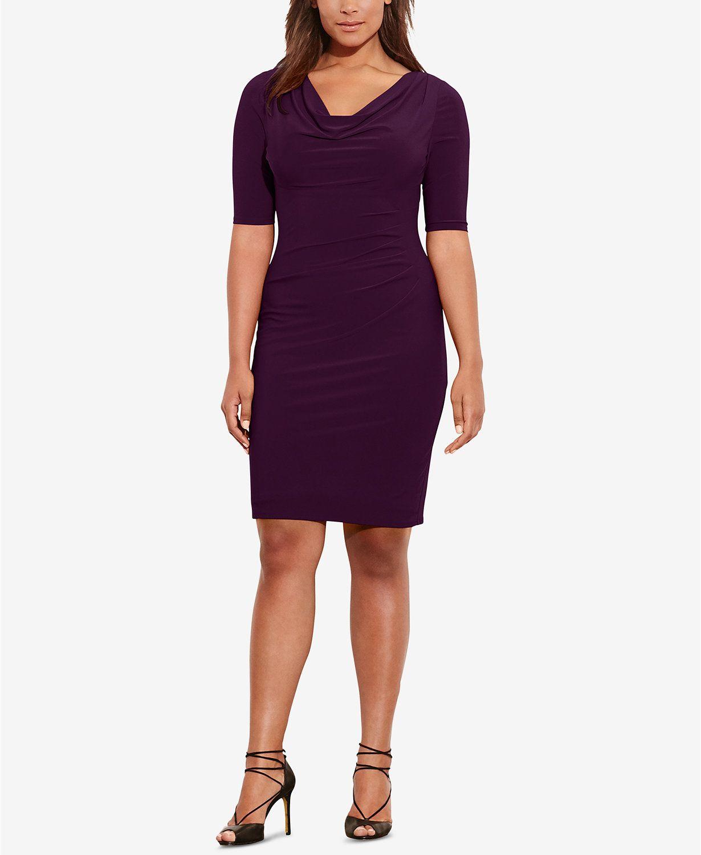 Lauren Ralph Lauren Plus Size Cowl Neck Dress Macys Killer