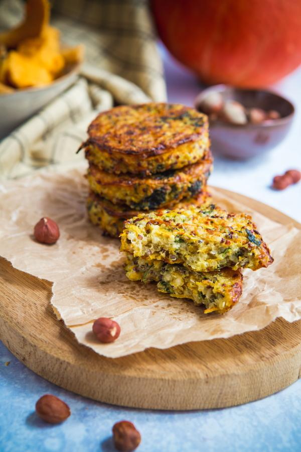 Galettes végétariennes au quinoa et potimarron | Recette ...