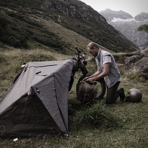 The Motorcycle Bivouac by Exposed http://stayexposed.com