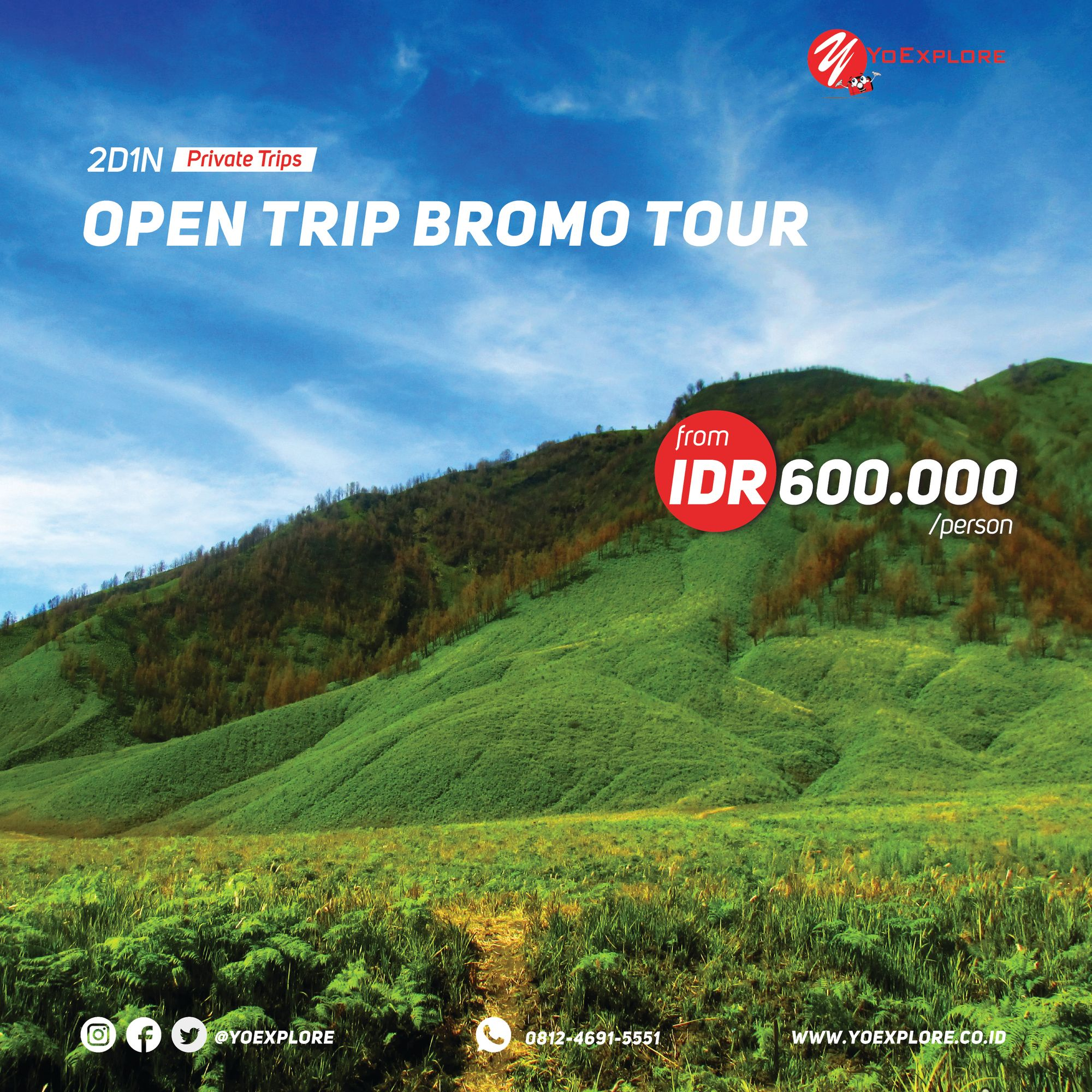 Indonesian Open Trip Bromo Tour Packages From Surabaya Malang Matahari Terbit Pemandangan Villa