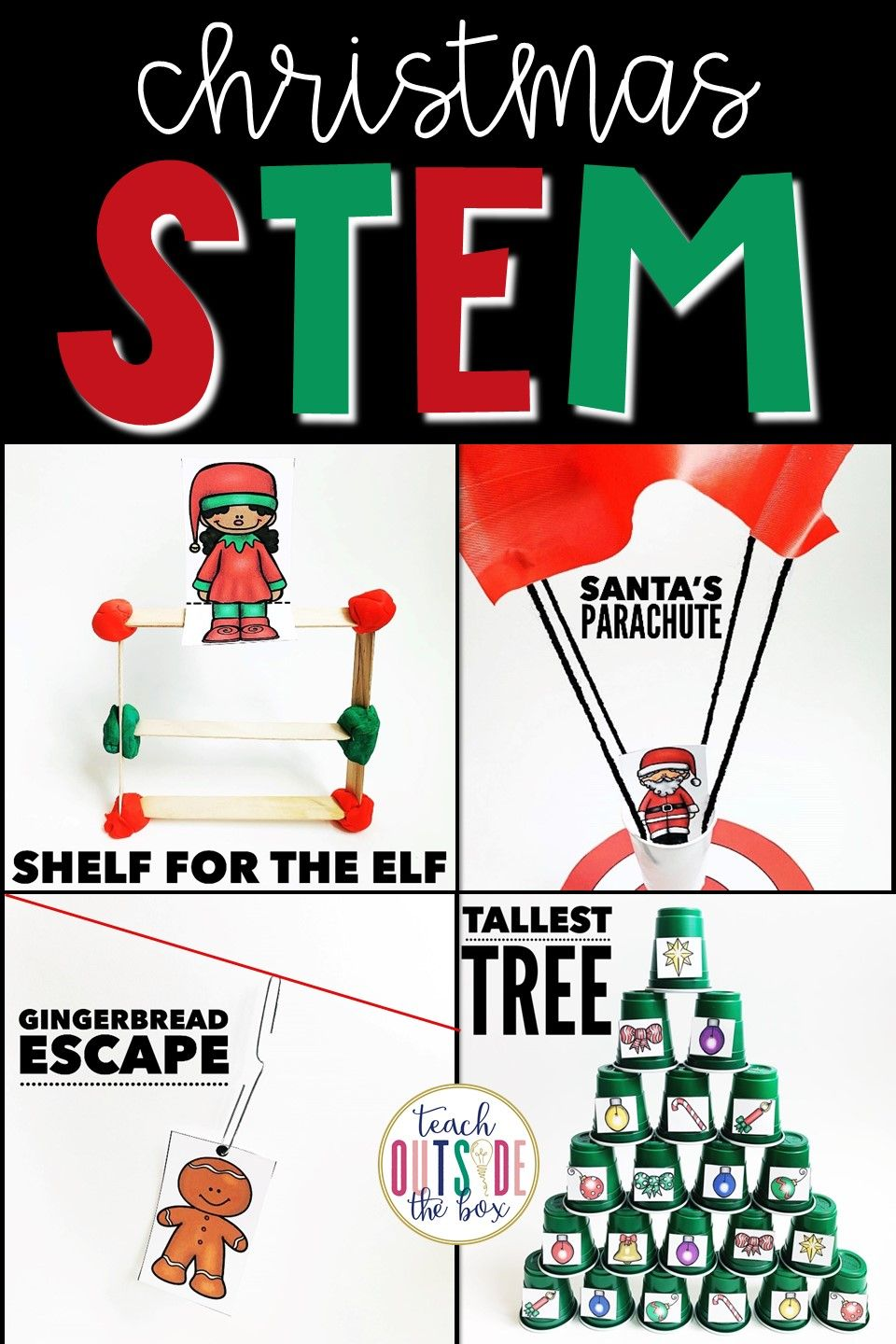 Christmas STEM Challenges for Elementary Students