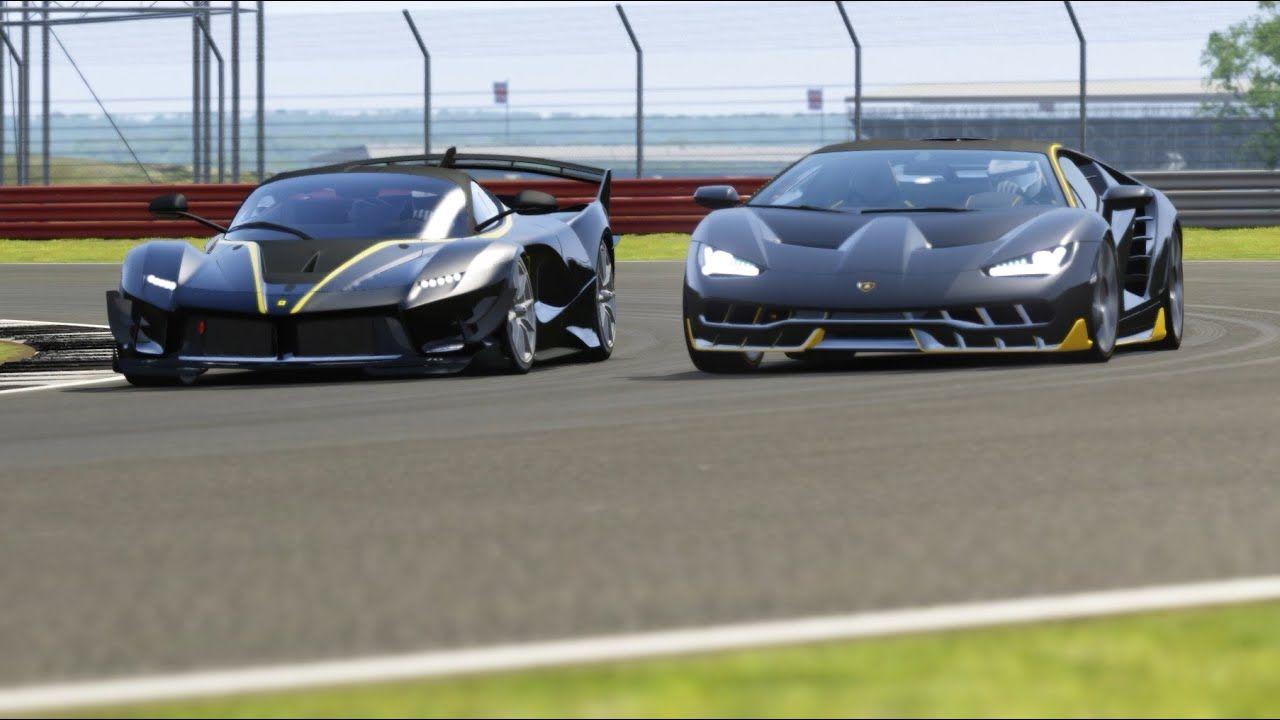 Ferrari FXX K Evo vs Lamborghini Centenario vs Koenigsegg Jesko vs Bjugatti Centodieci at Silverston