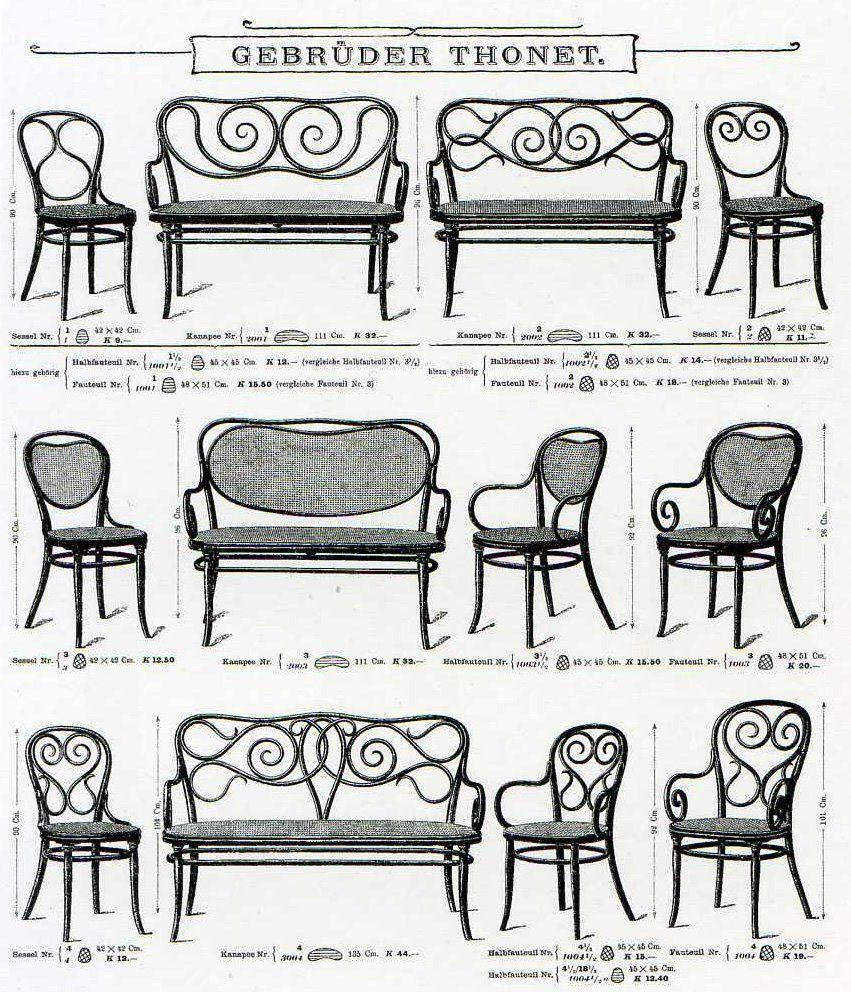 illustration autrichiennne : catalogue Michael Thonet
