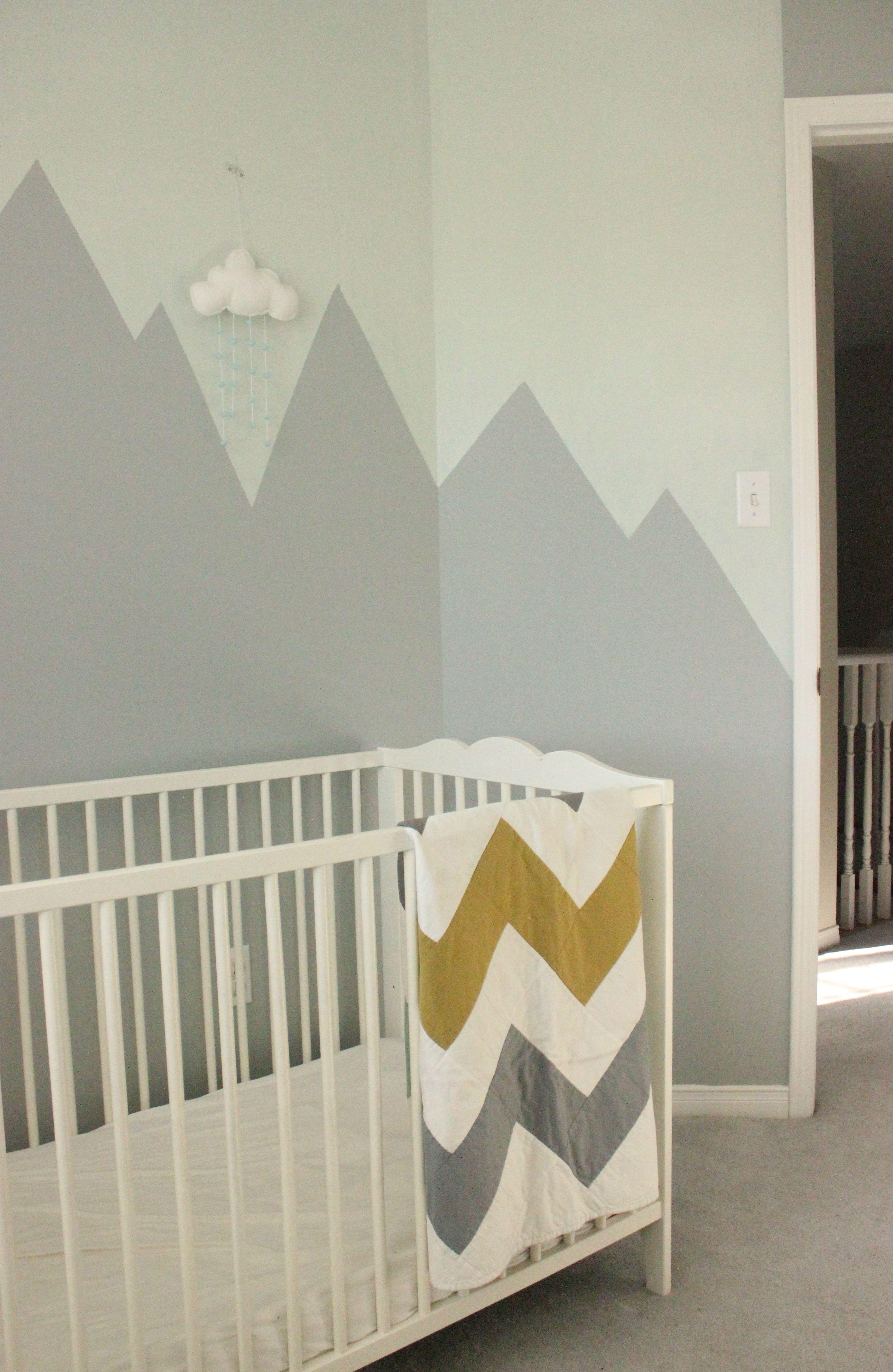 mountain mural nursery wall nursery