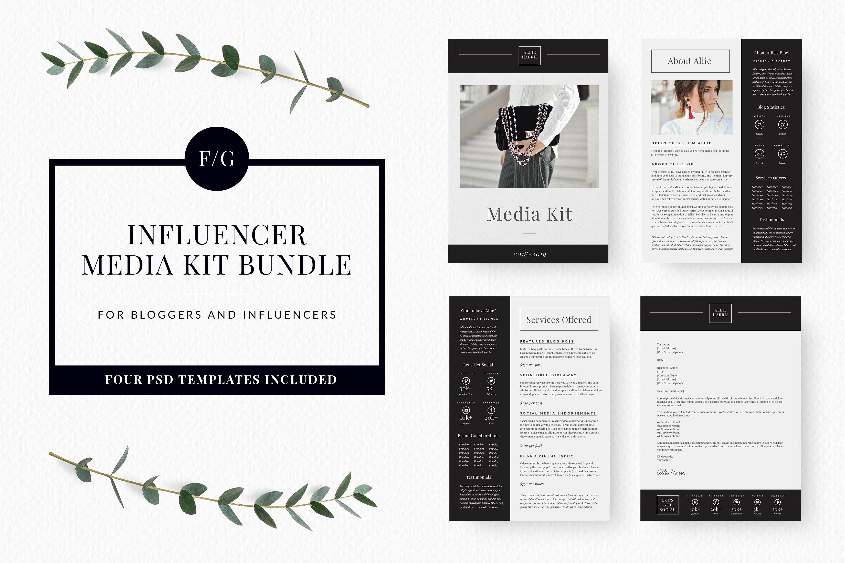 Influencer Media Kit Template Canva Media Kit Template Media Kit Media Kit Design