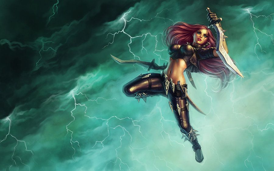 Katarina By Yumedust On Deviantart League Of Legends Characters League Of Legends Game Female Warrior Art
