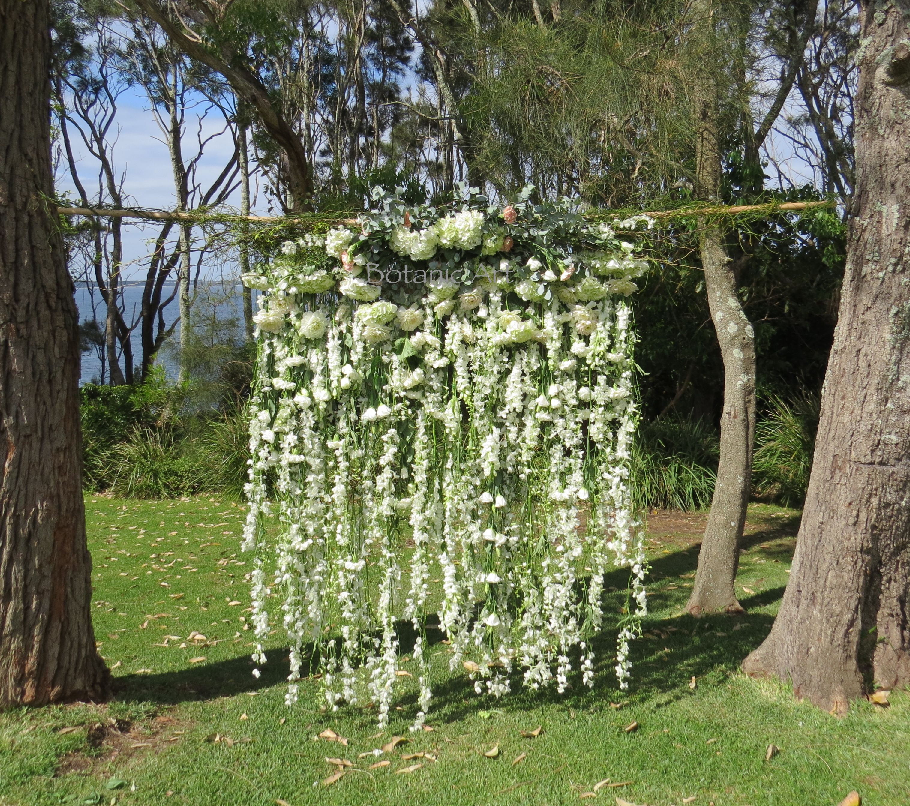 Wedding Ceremony Backdrop White Flowers Floral Garland Floral Cascade Flower Waterfall Fl Waterfall Backdrop Wedding Ceremony Backdrop Ceremony Backdrop