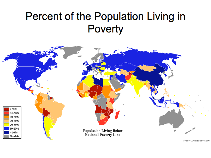 Unfortunately The Percent Of Poverty In An Area Is Directly - Poor countries map