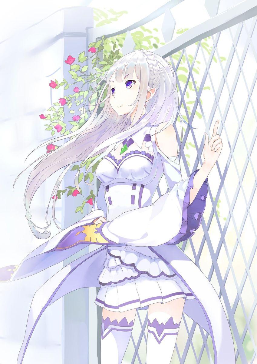 Emilia rezero anime Re zero, Manga anime, Desenho