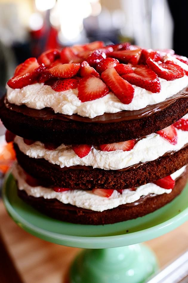 The Pioneer Woman Strawberry Chocolate Layer Cake Food Network Show