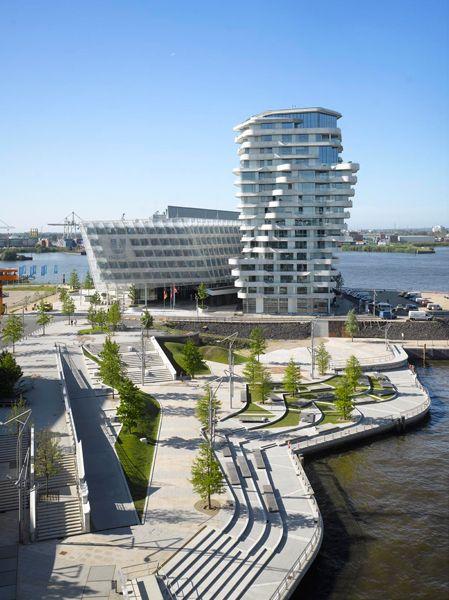 marco polo residential tower in hamburg by behnisch architekten
