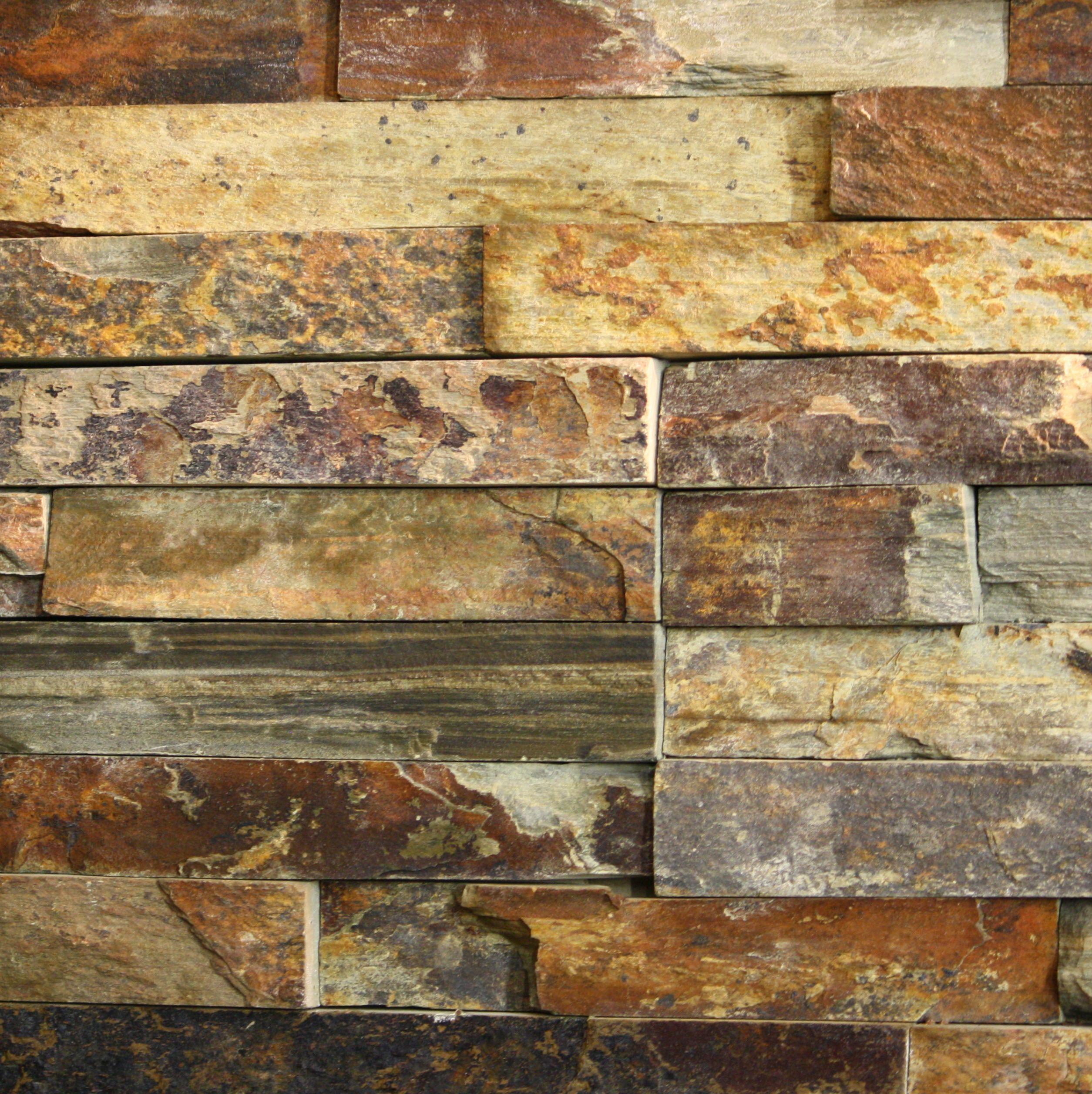 Slate Tile Accent Wall Rusty Slate Ledgestone Category