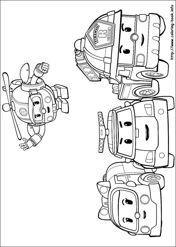 Robocar Poli Coloring Picture Kids Art Coloring Books Robocar