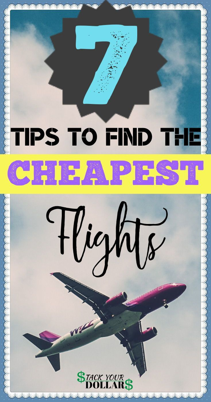 Searching for cheap tickets? Follow these travel tips to find cheap airfare so you can travel on a budget! These travel hacks will help you book cheap flights, even if you need to find a cheap flight last minute. Saving money on flights will allow you to enjoy more on your actual vacation! Start saving money and traveling frugally now! #cheapflights #cheaptickets #frugal #budgettravel #cheapairline #airfaredeals #stackyourdollars #lowcostairfare #traveltips #traveldeals #travelhacks