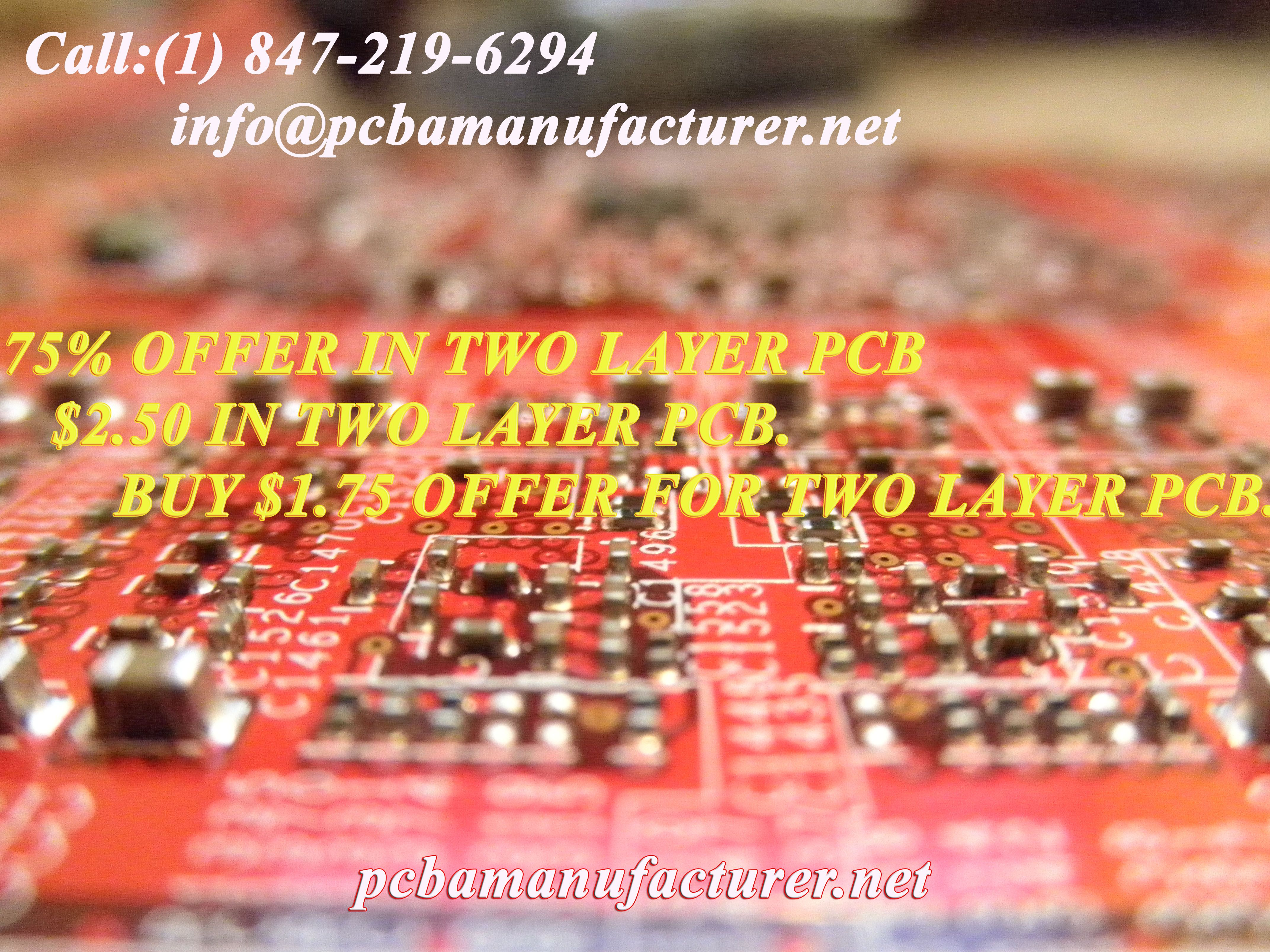 250 In Two Layer Pcb Pcba Manufacturer Is One Of The Top Usa Printed Circuit Board Buried Blind Via For Sale