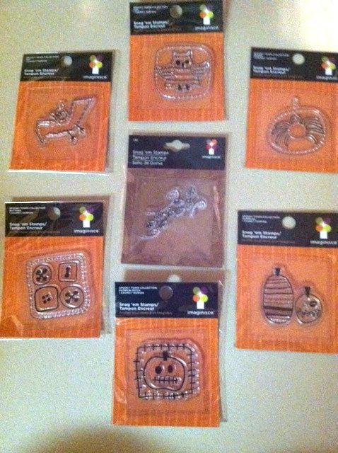 Halloween Set of Seven Clear Stamp by Imainisce by RoyalDescent10, $5.35
