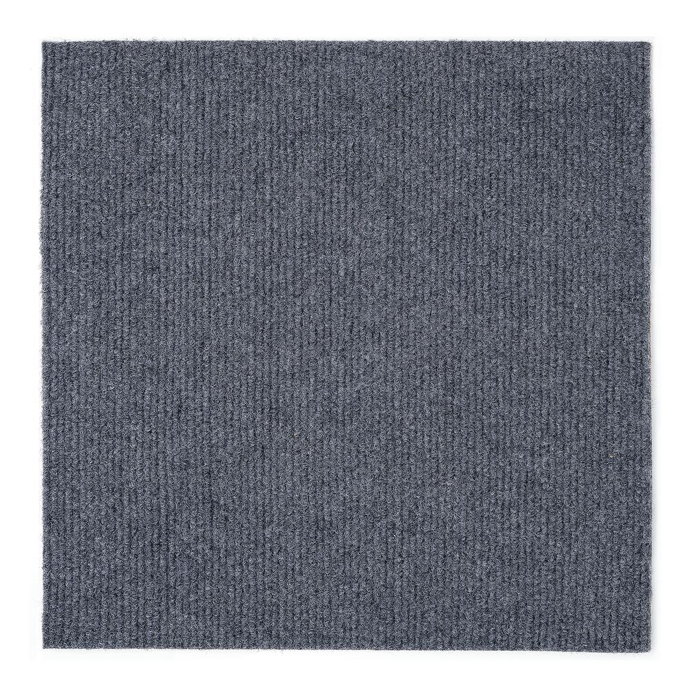 Achim Nexus Smoke 12 In X 12 In Peel And Stick Carpet Tiles 12