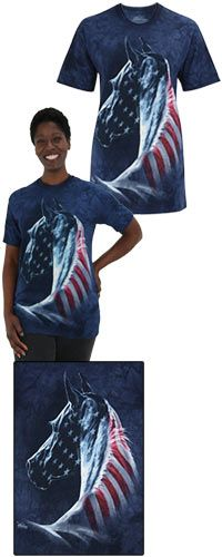 Patriotic Horse T-Shirt at The Veterans Site