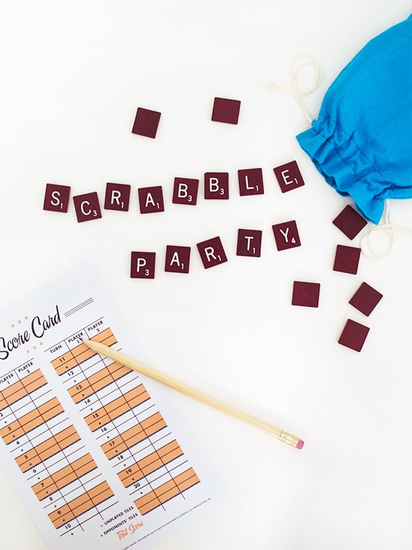Printable Scrabble Score Card  Scrabble Free Printables And Layouts