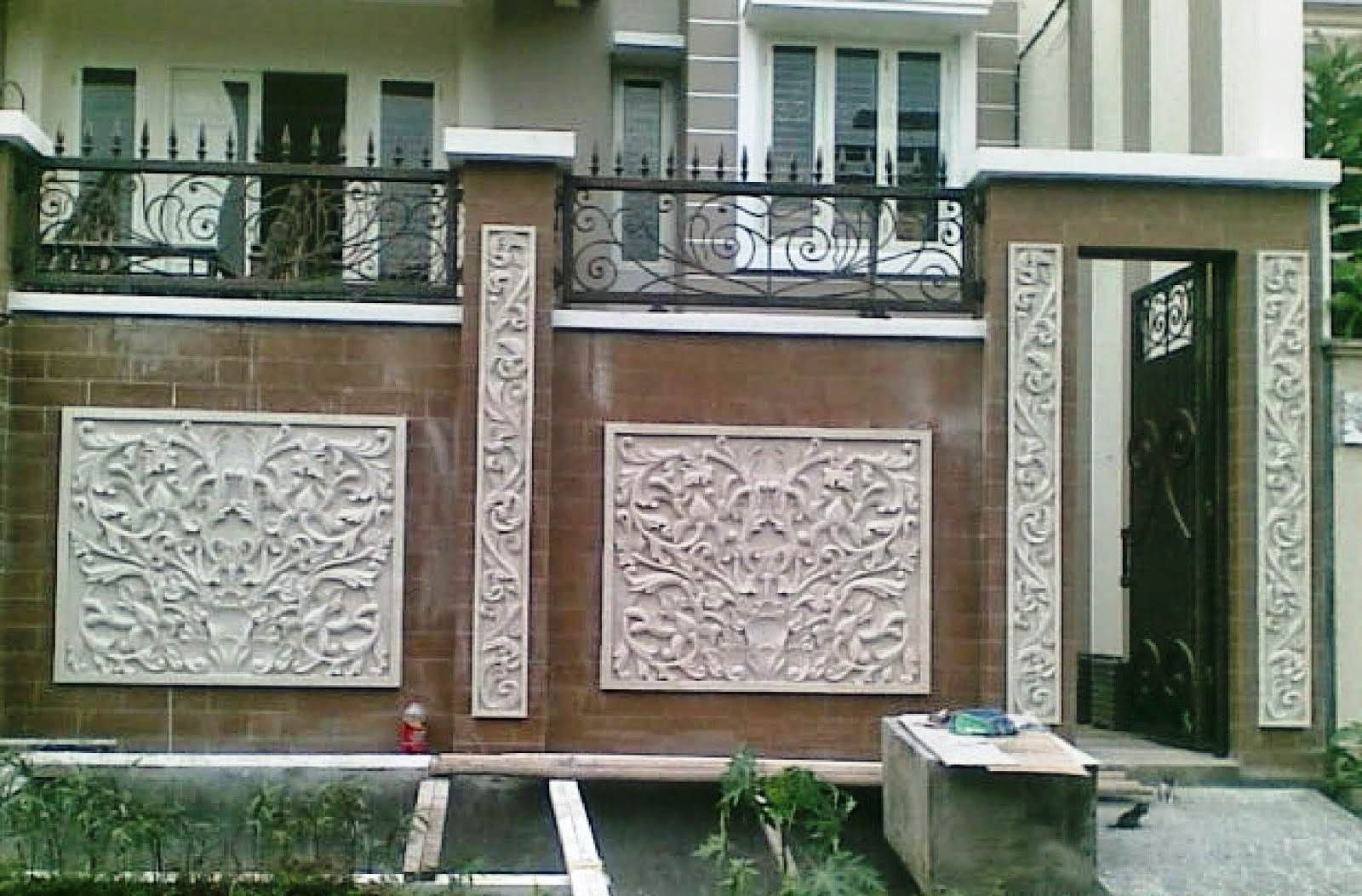 Model Pagar Tembok Rumah Mewah Minimalis Fence Di 2019
