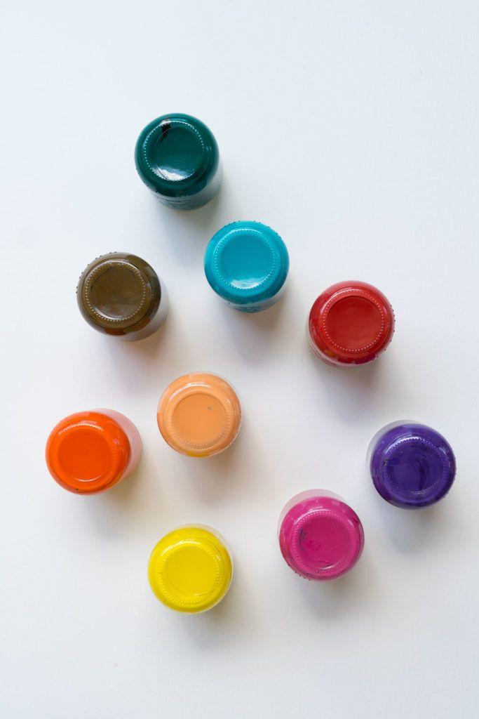 Upcycling & DIYIdee für den Bastelbereich Farbige