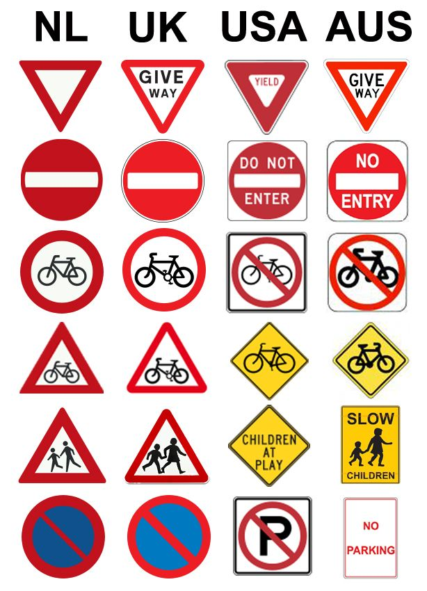 Road Signs For Cycling In The Netherlands School