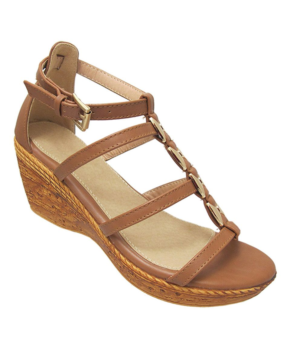 85d4b56f6132 This Yoki Brown   Gold Brenda Wedge Sandal by Yoki is perfect!  zulilyfinds