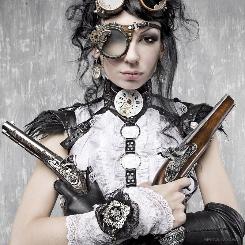Female Steampunk Gunslinger - Picanese D1afm