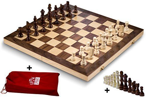 Attractive Smart Tactics 16 Folding Chess Set Made By FSC Certified Wood Premium  Edition With Chess Bag