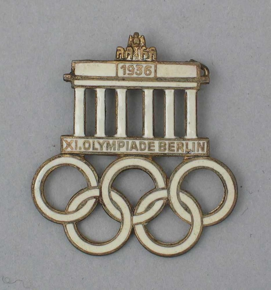 Original Olympic Rings Pin From The German Olympics Of 1936 In