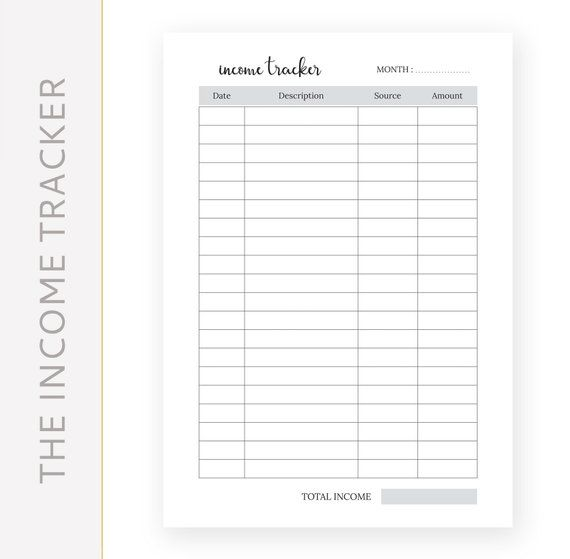 Expense Tracker And Income Tracker A5 A4 Us Letter Half Letter