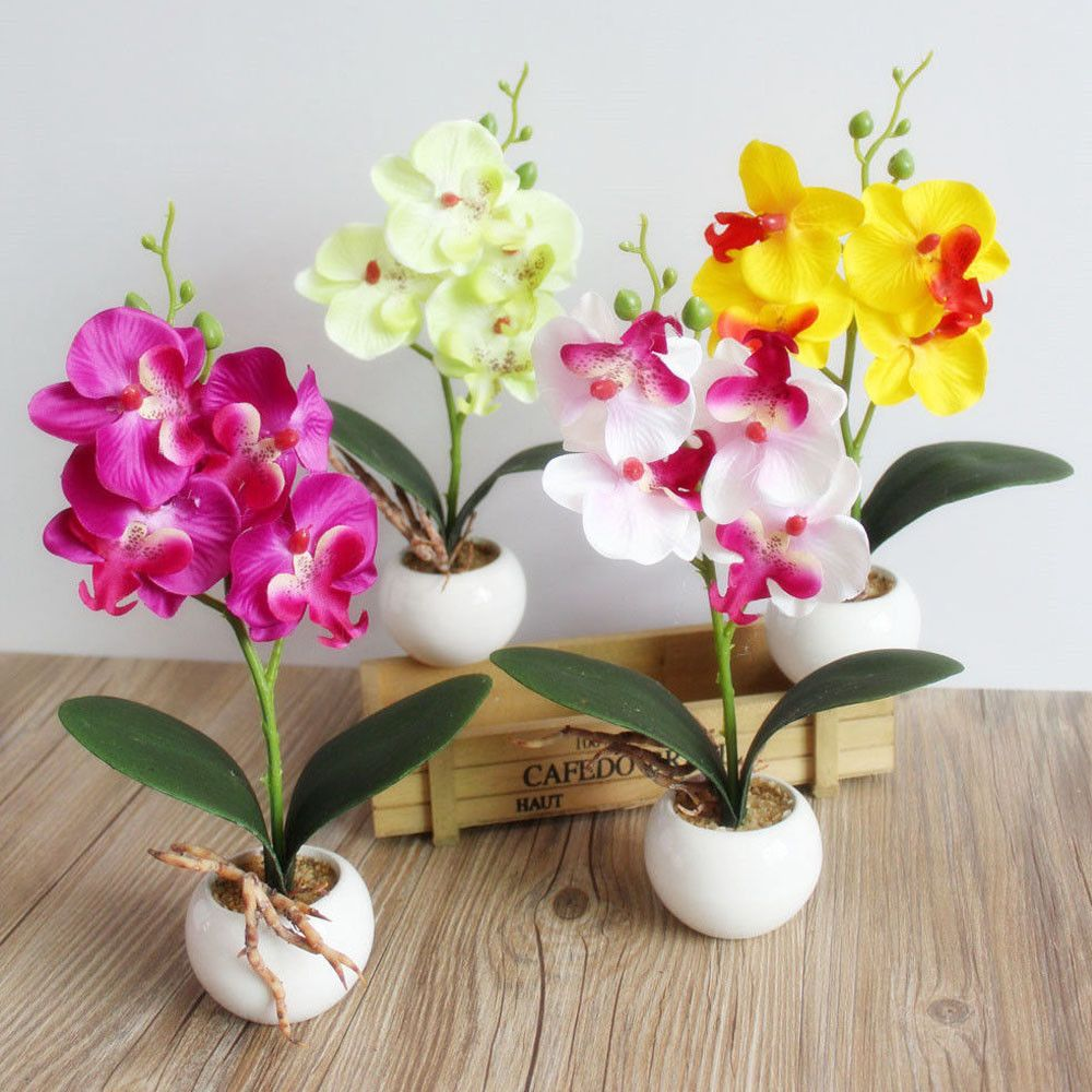 0 99 Artificial Mini Fake Butterfly Orchid Flower House Garden Decoration Sh Ebay Home Garden Artificial Orchids Fake Flowers Artificial Flowers