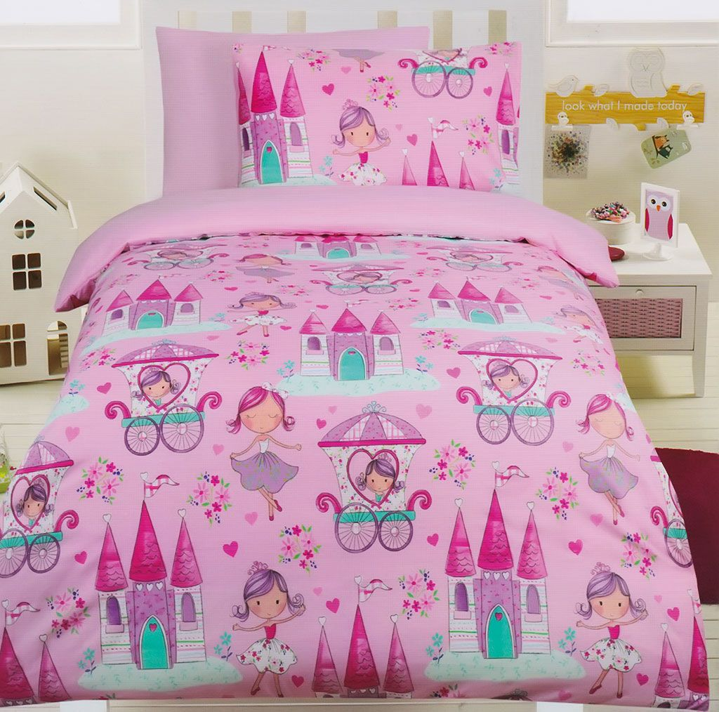 Princess Glow In Dark Quilt Cover Set Kids