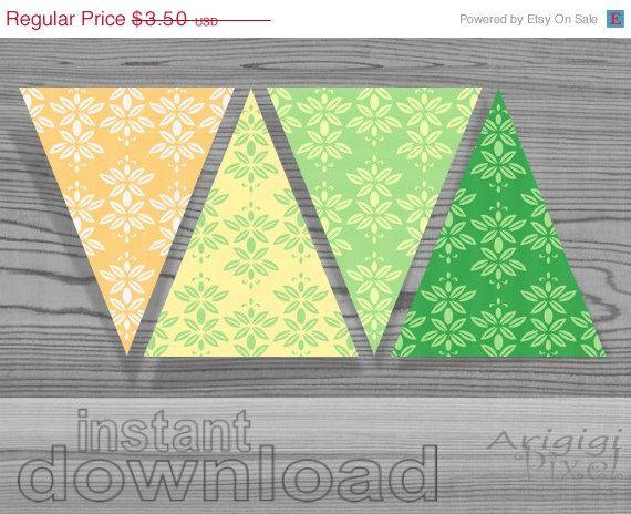 #WEEKEND #SALE 50 OFF printable pennant fresh spring by ArigigiPixel, $1.75