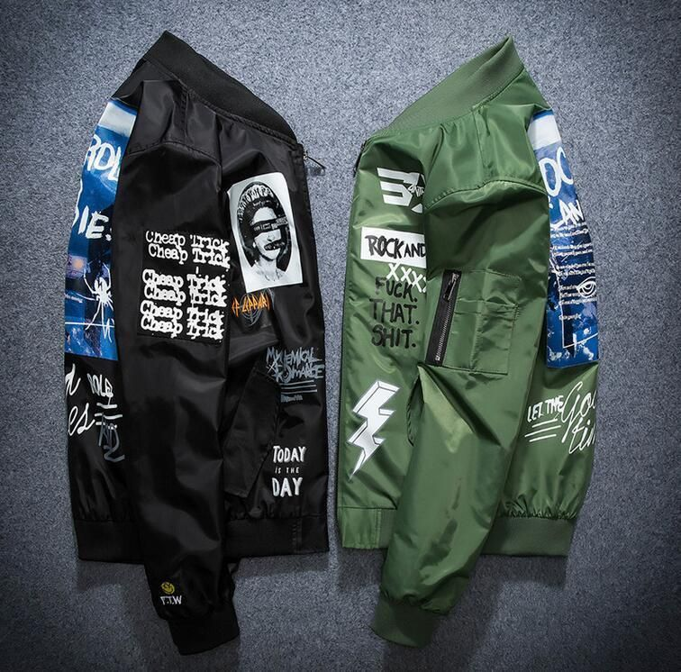 Details About 2018 Men S Air Jacket Ma1 Army Flight Bomber Jacket