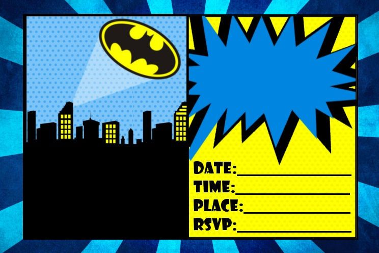 picture about Batman Birthday Invitations Printable Free called Totally free 4x6 measurement batman birthday invitation. Printable #batman