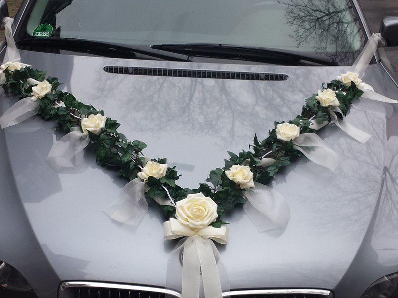 Hochzeitsgirlanden Autoschmuck Hochzeit Auto Girlande Autodekoration Ein Designerstuck Von Famil Autoschmuck Hochzeit Dekoration Hochzeit Autodeko Hochzeit