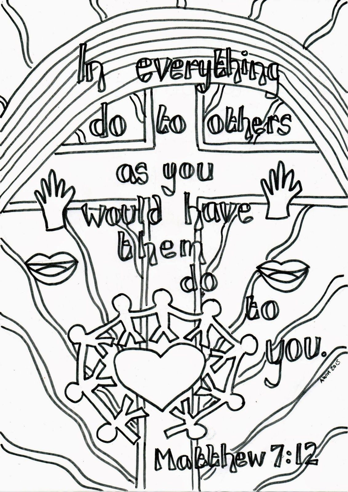 Flame Creative Childrens Ministry Reflective Colouring Sheet Matthew