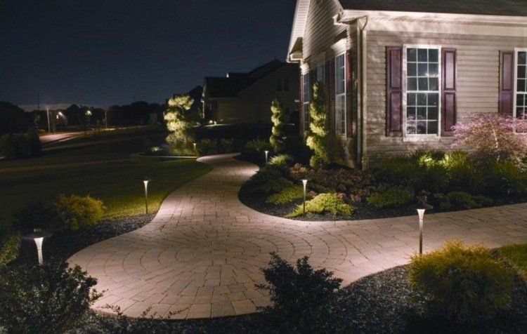 Borne Eclairage Exterieur Led Clairage Ext Rieur Led En Eclairage Exterieur Jardin Intraaz Com Landscape Lighting Led Outdoor Lighting Driveway Lighting