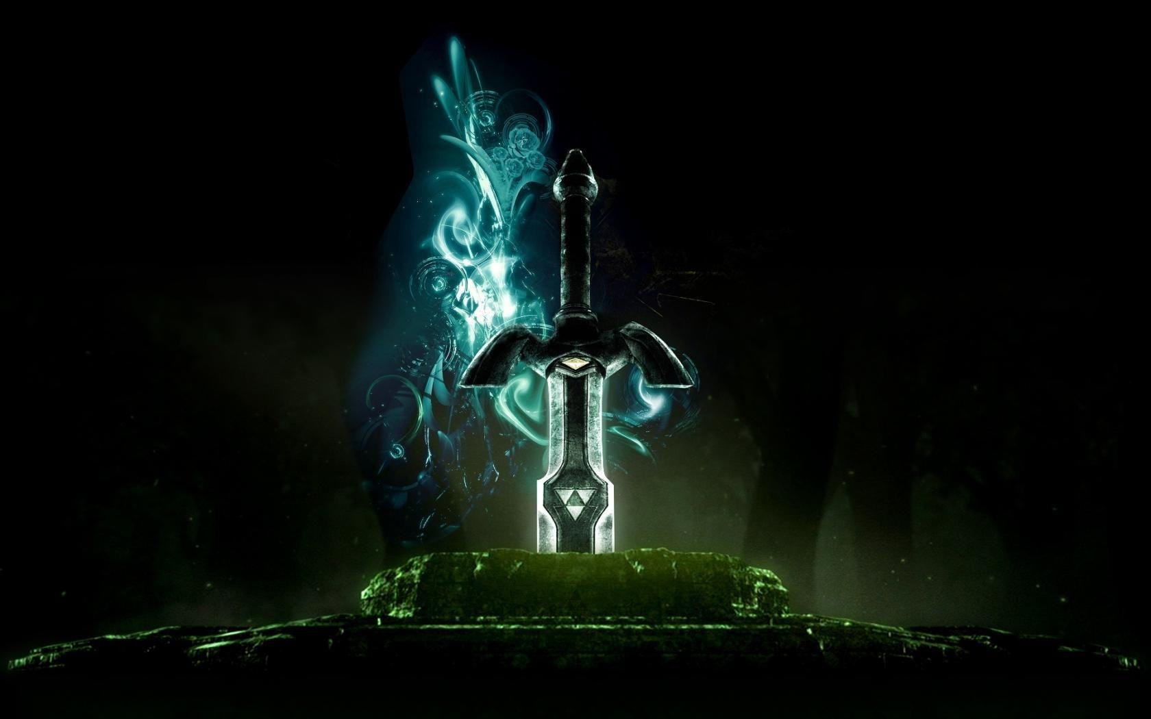 Legend Of Zelda Sword 3d Game Wallpaper Retro Abstract Designart Zelda Master Sword Master Sword Legend Of Zelda