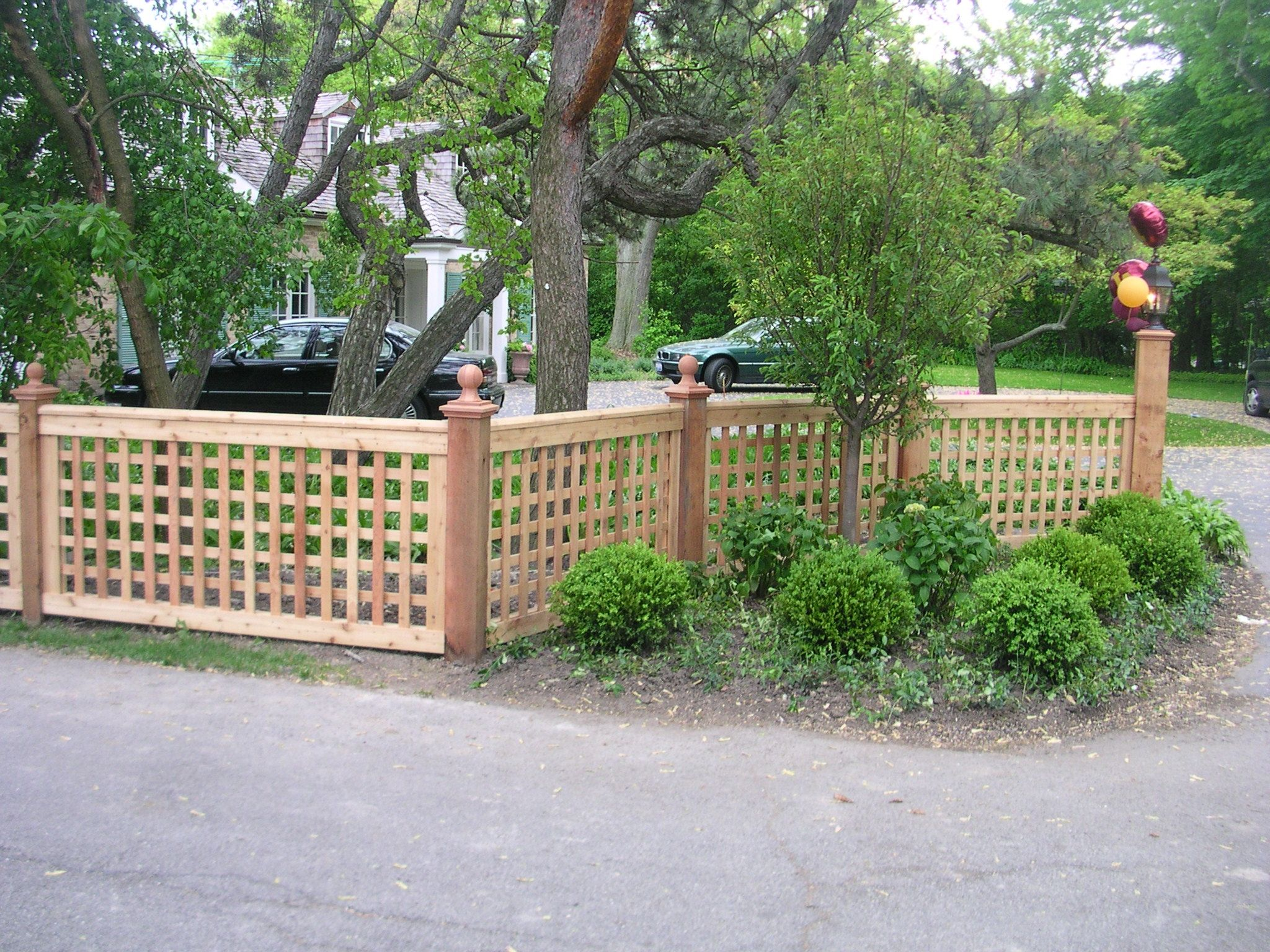 garden amp patio low lattice fence idea for front garden on backyard fence landscaping id=37809