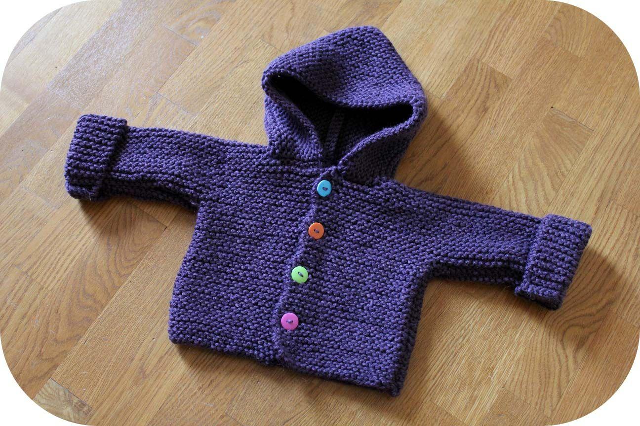 tuto tricot paletot bebe | Tricot gratuit layette, Tricot veste bébé, Tricot bébé
