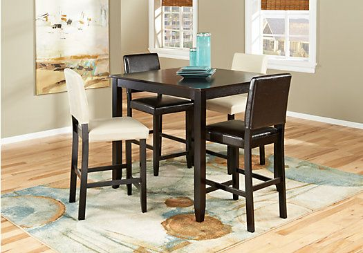 Shop For A Sunset View Brown 5 Pc Counter Height Dining Room At Awesome Espresso Dining Room Table Sets Inspiration Design