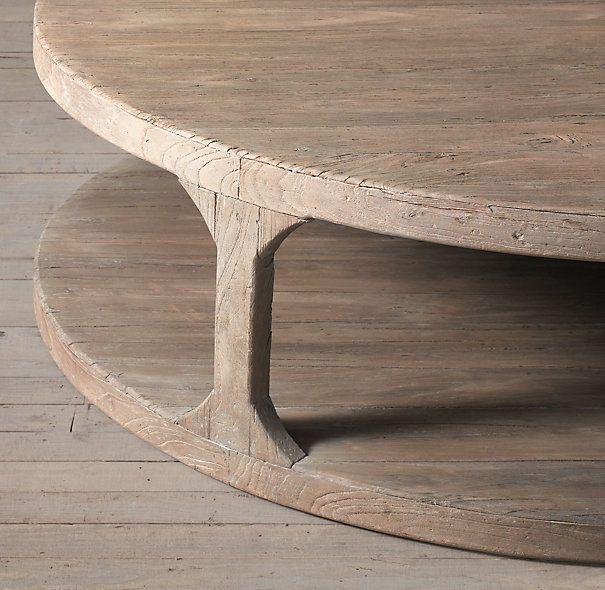 Extra Large Round Wood Coffee Table Barkeaterlake Com