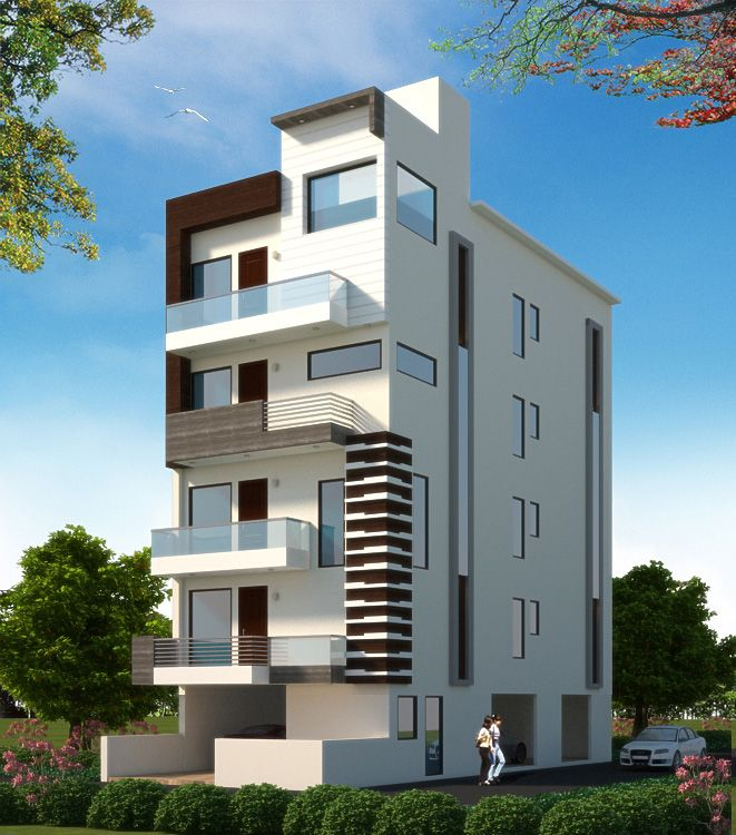 Modern Residential Exterior By Ar Sagar Morkhade: Top 3D Architecture Modeling