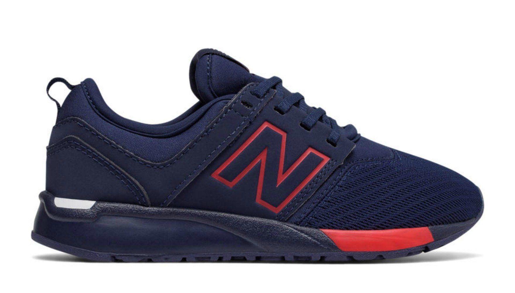 NEW BALANCE 247 Sneaker Kids | Navy / Red (KL247NR) | Kids ...