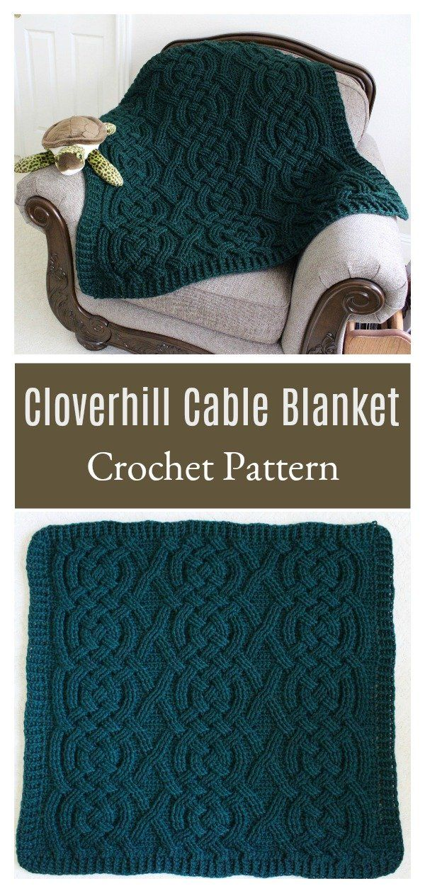 Photo of Cloverhill Cable Blanket Crochet Pattern