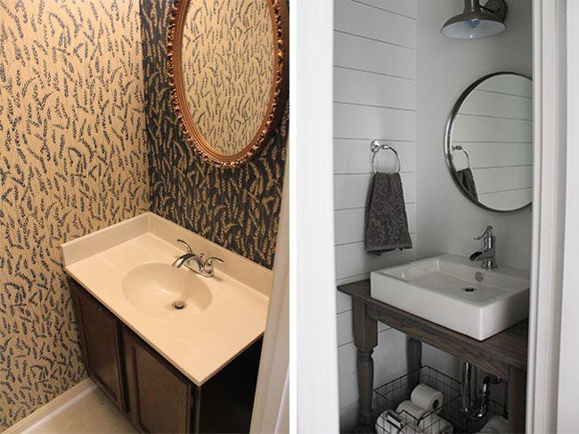 fancy half bathrooms. White Horizontal Boards On Wall In Half Bath Fancy Bathrooms T