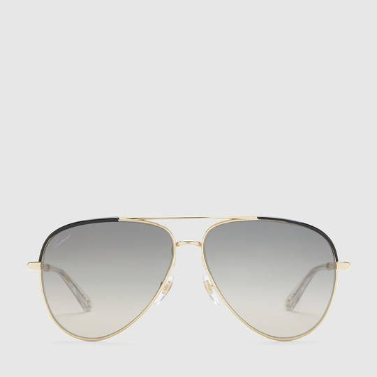 d3a2d6d3c5 Gucci Aviator sunglasses with metal bamboo temples