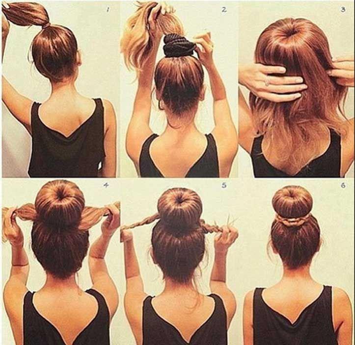 Frisuren lange haare dutt